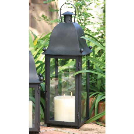 Hand-Forged Iron Grande San Juan Lantern With Black Finish