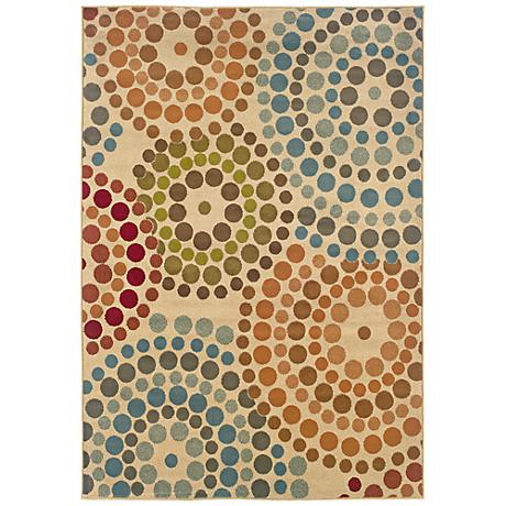 Emerson Collection Color Burst Area Rug