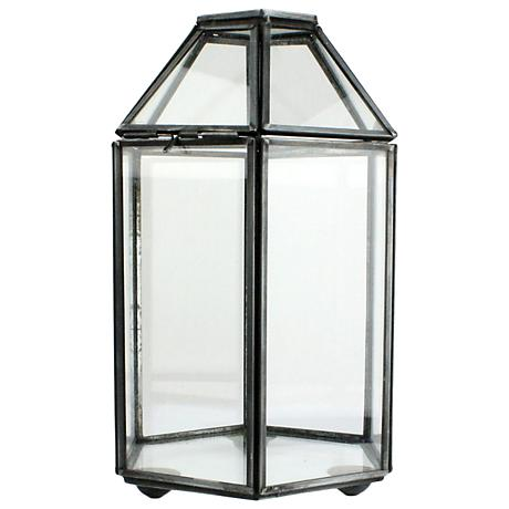 Pierre Six-Sided Clear Glass Faceted Trinket Box