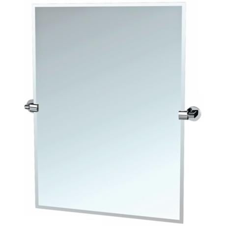 "Gatco 31 1/2"" High Chrome Tilt Zone Wall Mirror"