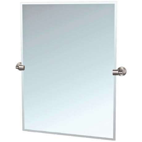 "Gatco 31 1/2"" High Satin Nickel Tilt Zone Wall Mirror"