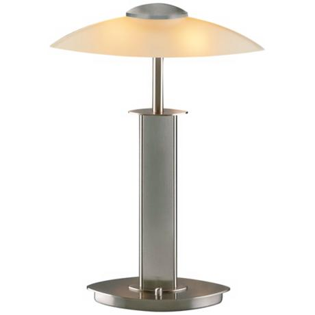 Satin Nickel and Champagne Halogen Holtkoetter Table Lamp