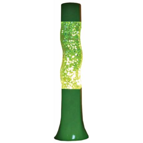 Groovy Lime Glitter Curvy Motion Lamp