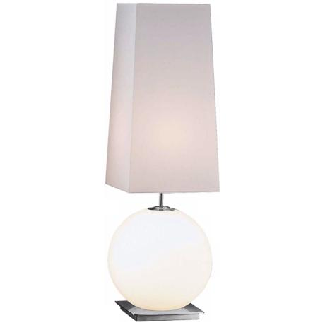 White Square Shade Lg Galileo Holtkoetter Table Lamp