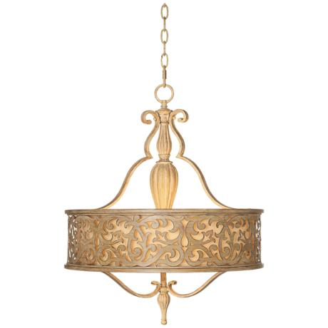 "Fredrick Ramond Carabel 3-Light 21"" Champagne Chandelier"