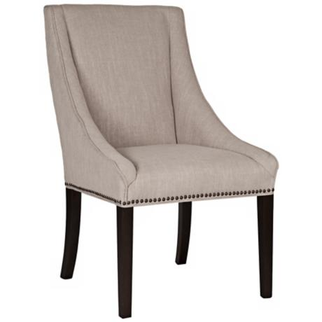Carson Birch Fabric Accent Chair
