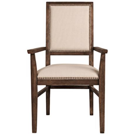 Dexter Rustic Java Acacia Wood Dining Arm Chair