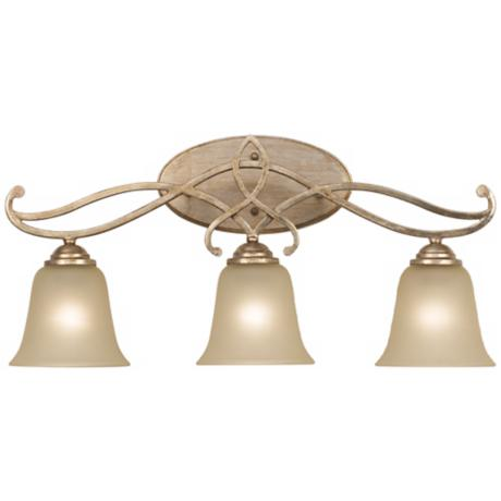 "Two-Tone 24 1/2"" Wide 3-Light Silver Gold Bath Light"