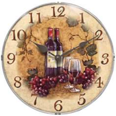 Vin Rouge Wall Clock
