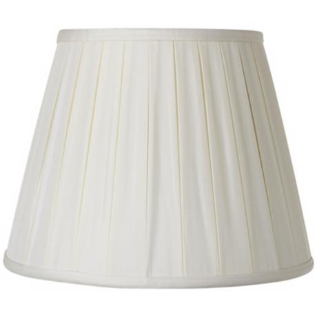 Oyster Silk Pleated Empire Lamp Shade 9x14x11 (Spider)