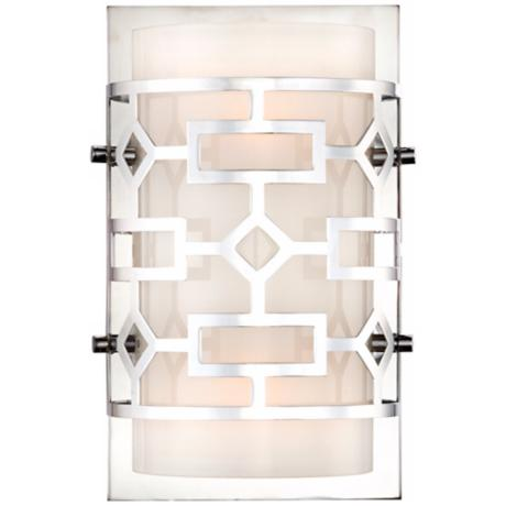 "Possini Cut-Out Chrome 9"" High Wall Sconce"