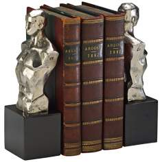 Hercules Chrome with Black Granite Bookends