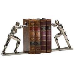 Silver Iron Men Bookends