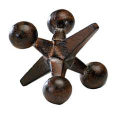 Large Antiqued Rust Jack