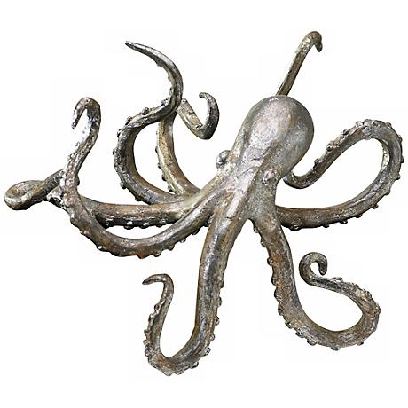 Cast Iron Octopus Decorative Shelf Sculpture