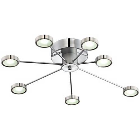 "Retro Circles 30"" Wide LED Ceiling Light Fixture"