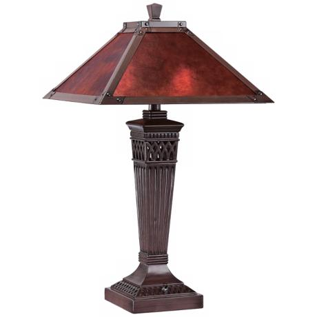 Branson Aged Bronze with Mica Shade Table Lamp