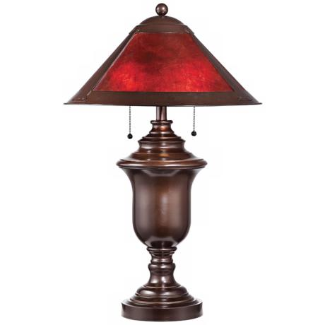 Gilson Aged Bronze with Mica Shade Table Lamp
