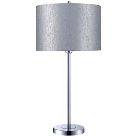 Silvain Chrome with Silver Shade Table Lamp