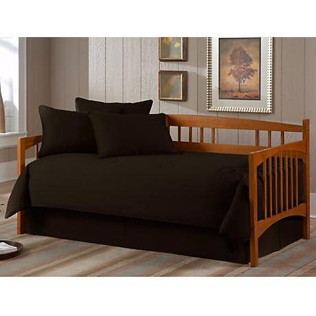 Solid Black Paramount 5-Piece Daybed Bedding Set