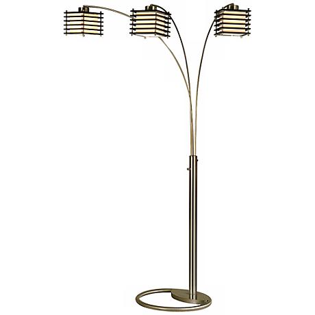 Kimura 3-Light Arc Nova Floor Lamp