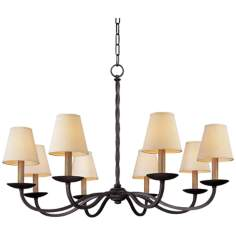 "Alexander 8-Light 38"" Wide Wrought Iron Chandelier"