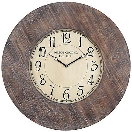 "Cooper Classics Kensington 29 1/2"" Wide Wall Clock"