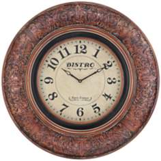 "Cooper Classics Billings 33"" Wide Wall Clock"
