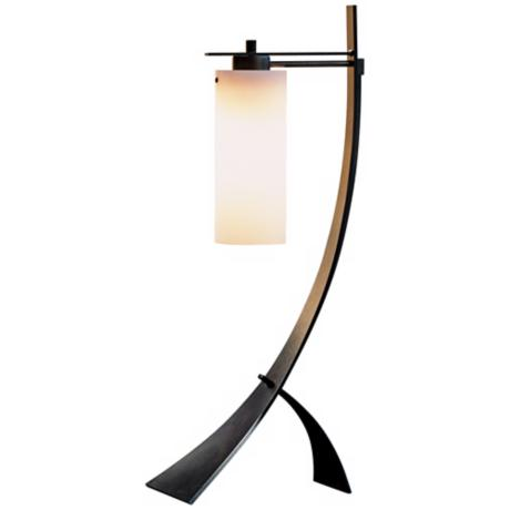 Stasis with Opal Glass Hubbardton Forge Table Lamp