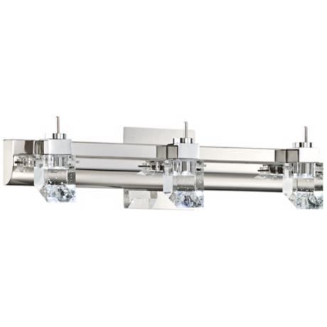 "Chrome and Glass ADA Compliant 19 3/4"" Wide LED Bath Light"
