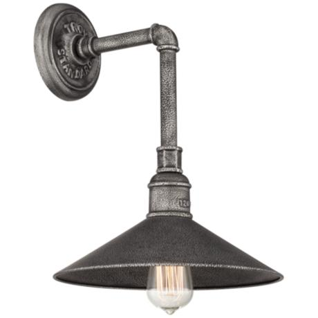 "Toledo Collection 14 3/4"" High Silver Outdoor Wall Light"