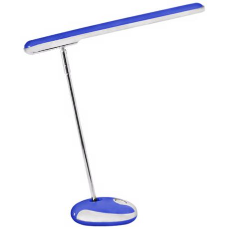 Blue and White Folding LED Desk Lamp