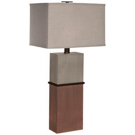Thumprints Taurus with Rectangular Shade Table Lamp