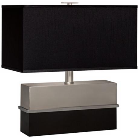 Thumprints Versailles Black Rectangular Shade Table Lamp