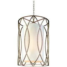 "Sausalito 34 3/4"" High Silver Gold Pendant Light"