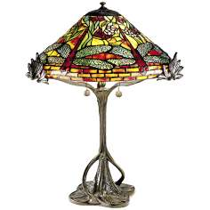 Floral Dragonfly Tree Replica Dale Tiffany Table Lamp