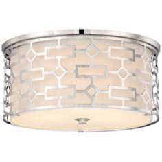 "Possini Cut-Out Chrome 14"" Wide Ceiling Light Fixture"