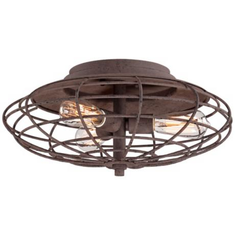 "... Dark Rust 8 1/2"" High Ceiling Light Fixture - #U8933 