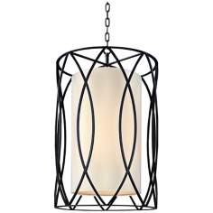 "Sausalito 34 3/4"" High Deep Bronze Pendant Light"