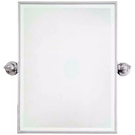 "Minka 24"" High Rectangle Chrome Bathroom Wall Mirror"
