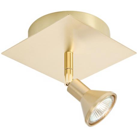 Lichtstar Brushed Brass Square/Round Spotlight Ceiling Fixture