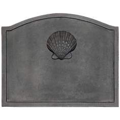 Shell Fireplace Black Cast Iron Fireback