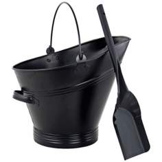 Traditional Black Coal Hod with Scoop