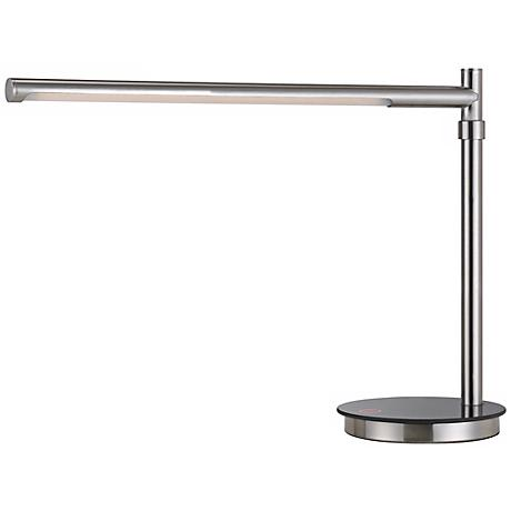 Stanchion Brushed Steel LED Desk Lamp