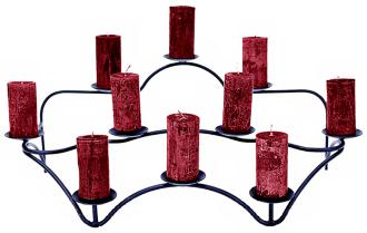 Contours Indoor/Outdoor Black Candelabra Candle Holder (U9141) U9141