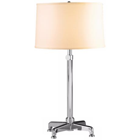 Conception Polished Nickel and Cream Adjustable Table Lamp