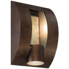 "Slate Bronze ADA Compliant 12"" High Outdoor Wall Light"