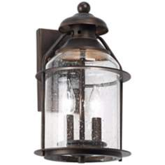 "Industrial 14 1/2"" High Bronze Outdoor Wall Light"