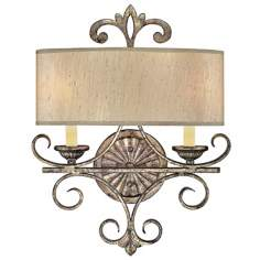 "Savonia Silver 2-Light 18 1/2"" High Savoy House Sconce"
