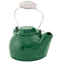 2 1/2 Quart Green Enameled Cast Iron Humidifier Kettle